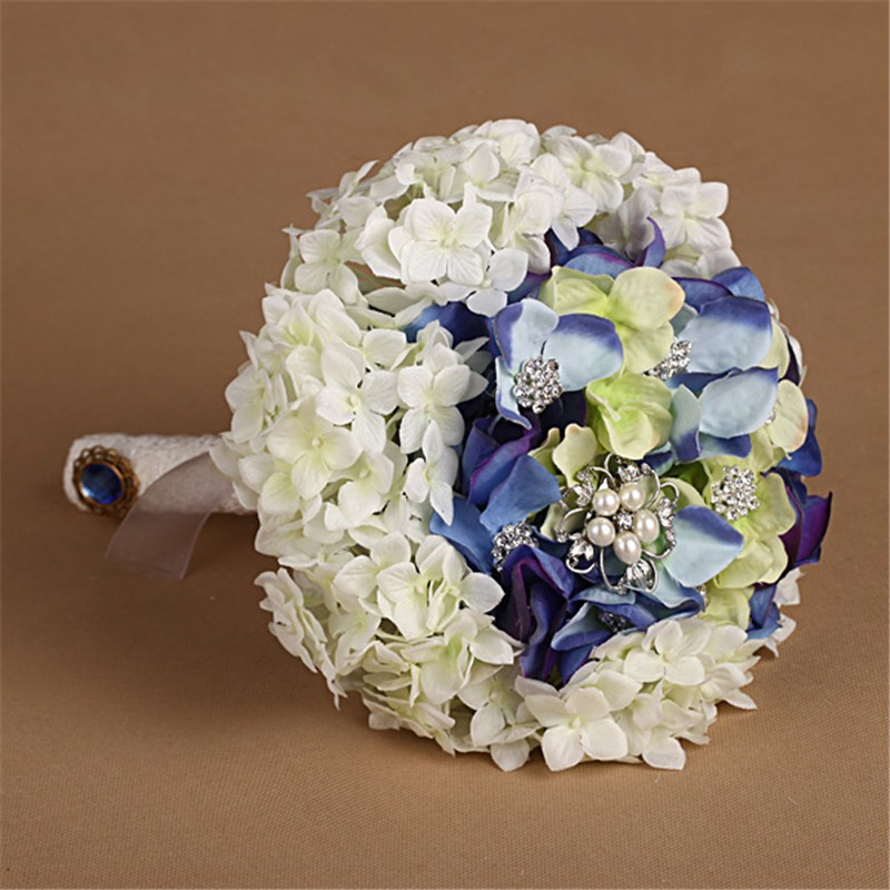 New Artificial Wedding Bouquets Crystal Bridal Bouquet Wedding Bouquet Wedding Flowers Bridal Bouquets Hydrangea Flower Bouquet (6)