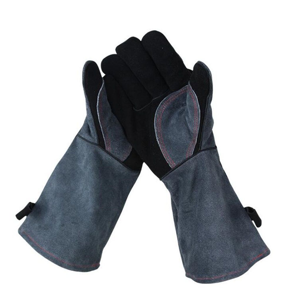 Heat Resistant thick Silicon Kitchen barbecue oven BBQ Grill Cooking Glove Long Extreme Heat Protection fire insulation safety gloves heat resistant glove aramid bbq glove oven kitchen glove direct supply forearm protection