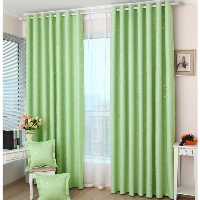 1 pair Readymade Children bedroom curtains   Lau mantianxing stars carton  blackout cortinas. 1 pair Readymade Children bedroom curtains   Lau mantianxing stars