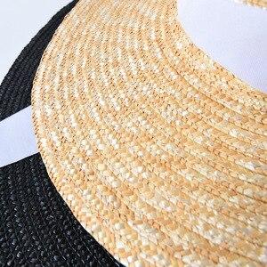 Image 3 - USPOP ฤดูร้อนหมวกผู้หญิงหมวกภาษาฝรั่งเศสคำสไตล์กว้าง brim หมวก Casual ธรรมชาติข้าวสาลีฟางหมวก LACE Up หมวกชายหาด Shade