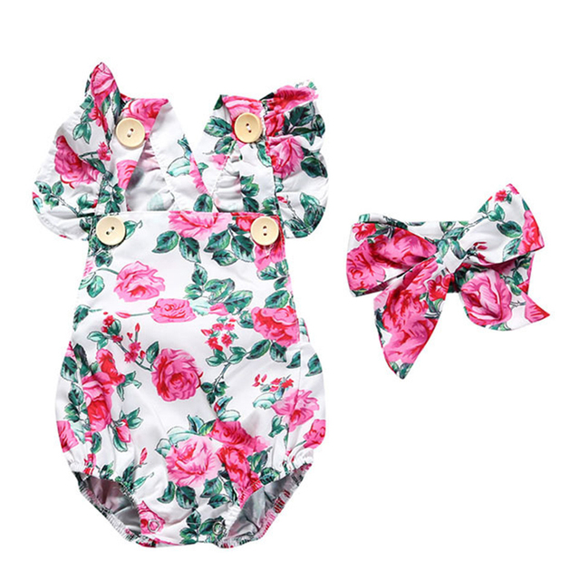 793aae985e12 Baby Girl Rompers Fashion Summer Sleeveless Toddler Clothes Newborn ...