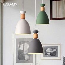 Lâmpada pendente led nodic, luminária suspensa, pingente, de madeira, moderna, várias cores, para restaurante, sala de jantar, quarto