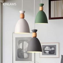 Nodic Anhänger Lampe LED Hängen Lichter Anhänger Beleuchtung holz Moderne mehrere farbe für Restaurant Anhänger esszimmer Schlafzimmer
