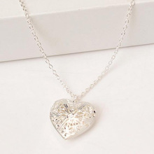 Heart Locket Necklace With Picture Inside