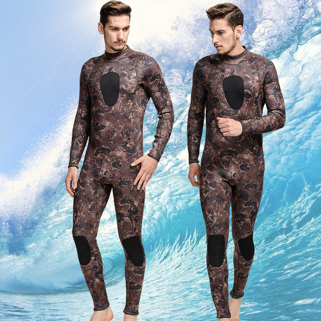 ccfb36979a8c6 SBART 3MM rubber suit warm winter long sleeved one-piece thickened male  clothing neoprene snorkeling jellyfish swimsuit swimwear