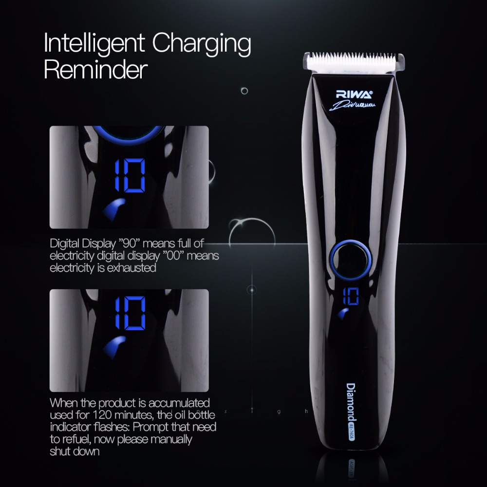 Professional IPX7 Waterproof Auto sensing low noise Hair Trimmer Clipper Haircut cutter Kit Stainless Ceramic Blade