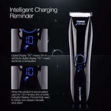 Professional IPX7 Waterproof Auto-sensing low noise Hair Trimmer Clipper Haircut cutter Kit Stainless Ceramic Blade LCD screen