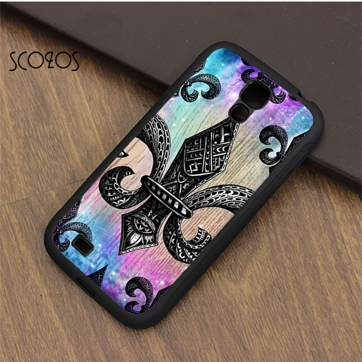 Scozos Fleur De Lis Tie Dye Symbol Phone Case Cover For Samsung