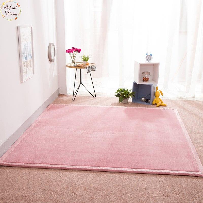 Infantile brillant maison tapis tapis corail polaire tapis 2 CM épaisseur Tatami tapis 180X200 CM salon tapis chambre tapis bébé tapis de jeu - 2
