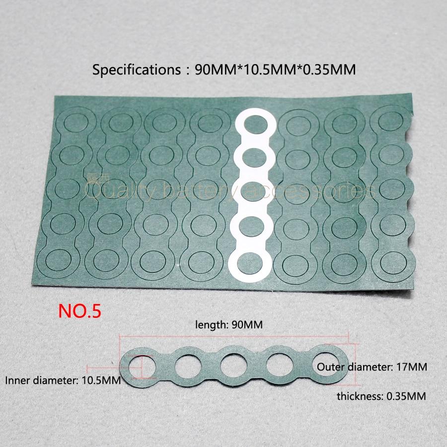 Купить с кэшбэком 100pcs/lot 18650 battery 2 /3 insulation pad /4 /5 /6 /1 insulation pad paper barley green shell Paper Group