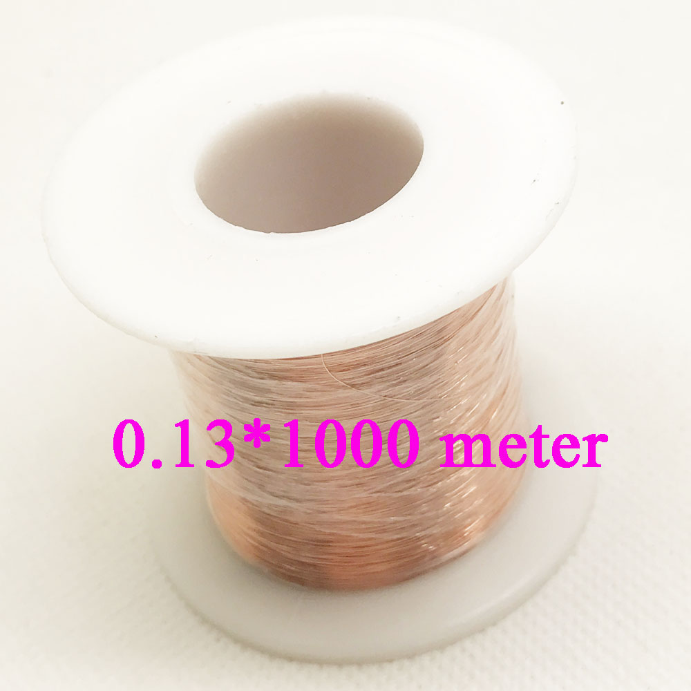 0.13mm QA-1-155 Polyurethane Enameled Copper Wire Repair wire 1000 meter 500meter 0 1mm 1000m pc length qa 1 155 polyurethane enameled wire copper wire enameled repair