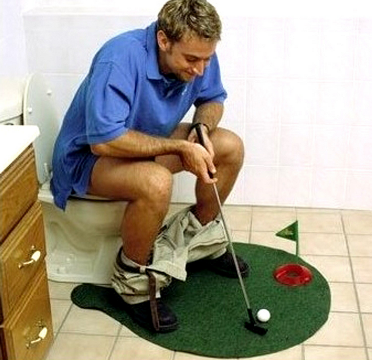 NEW Potty Putter Toilet Golf Game Mini Golf Set Toilet Golf Putting Green Novelty Game Toy Gift Bathroom Product CANDYKEE