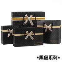 100 Pacco regalo di affari nero sacchetto di carta con maniglia per i vestiti scarpe caramelle al cioccolato