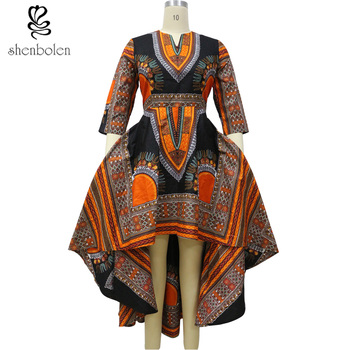 shenbolen 2018 African Fashion dresses for women African dashiki batik prints men's tops lady Couples Clothes for women and men 1