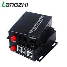 Hoge Kwaliteit 2 Kanaals PCM Voice Telefoon Fiber Optische Media Converter Met Ethernet FC Single mode 20Km недорого