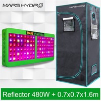 Mars Reflector 480W LED Grow Light Indoor Plants Hydroponics+70x70x160cm Indoor Grow Tent Box Grow Kits