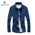 Zeeshant Mens Corduroy Shirt Long Sleeve Famous Designer Solid Comfortable Trendy Shirt Male Dress Shirt 16 Colors 7 Sizes
