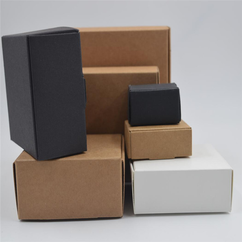 52026af112b 20 sizes Black brown white gift cardboard box brown kraft carton soap  packing gift paper box jewelry gift packaging paper box-in Gift Bags    Wrapping ...