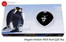 Qingmos wish pearl 16*25 мм ожерелье чокер с пингвином в клетку