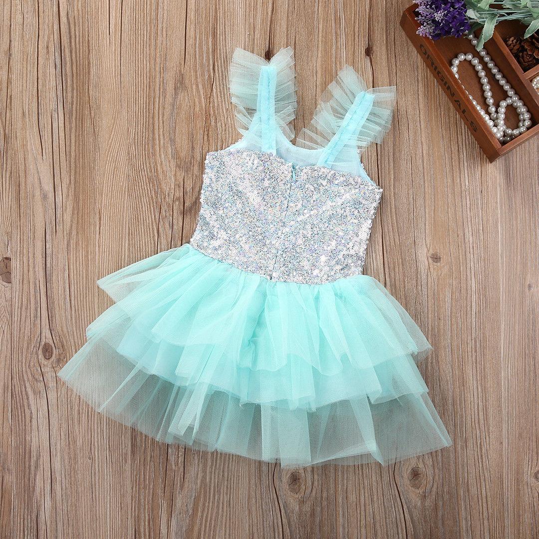 Fashion Hot cute Toddler Newborn Baby Kids Girls Wedding Party Gown ...