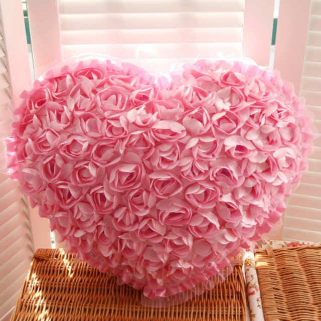 Roses Heart Pillow