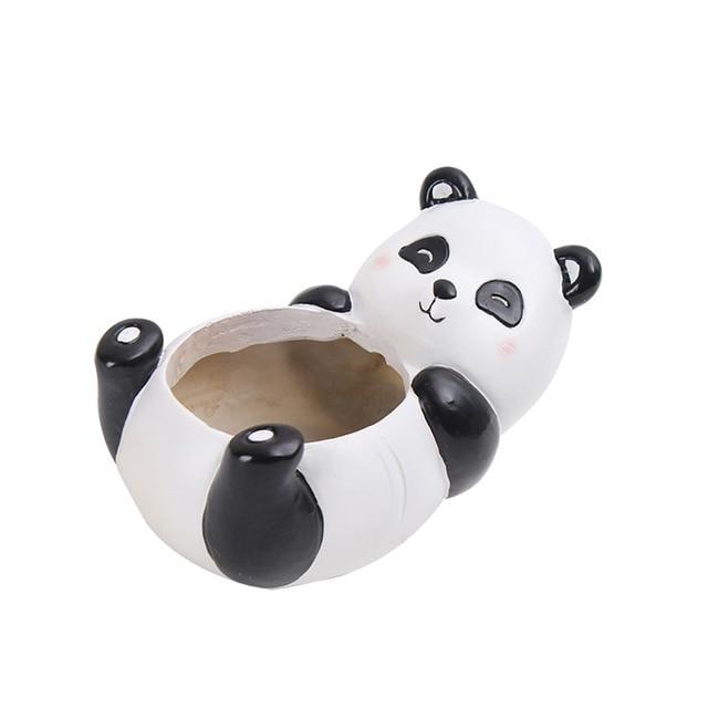 Us 89 34 Offbestoyard W Kształcie Zwierząt Cartoon Kwiat Doniczka Słodkie Panda Wazon Doniczka Home Dekoracji Dla Soczyste Rośliny W Bestoyard W
