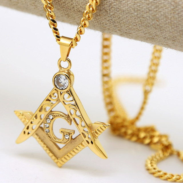 Masonic Illuminati Symbol Gold Color Free Mason Pendant And 275