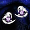 Ataullah New 925 Sterling Silver Austrian Crystal Big Earrings For Women Stud Earrings Antiallergic Fashion Jewelry EWS107