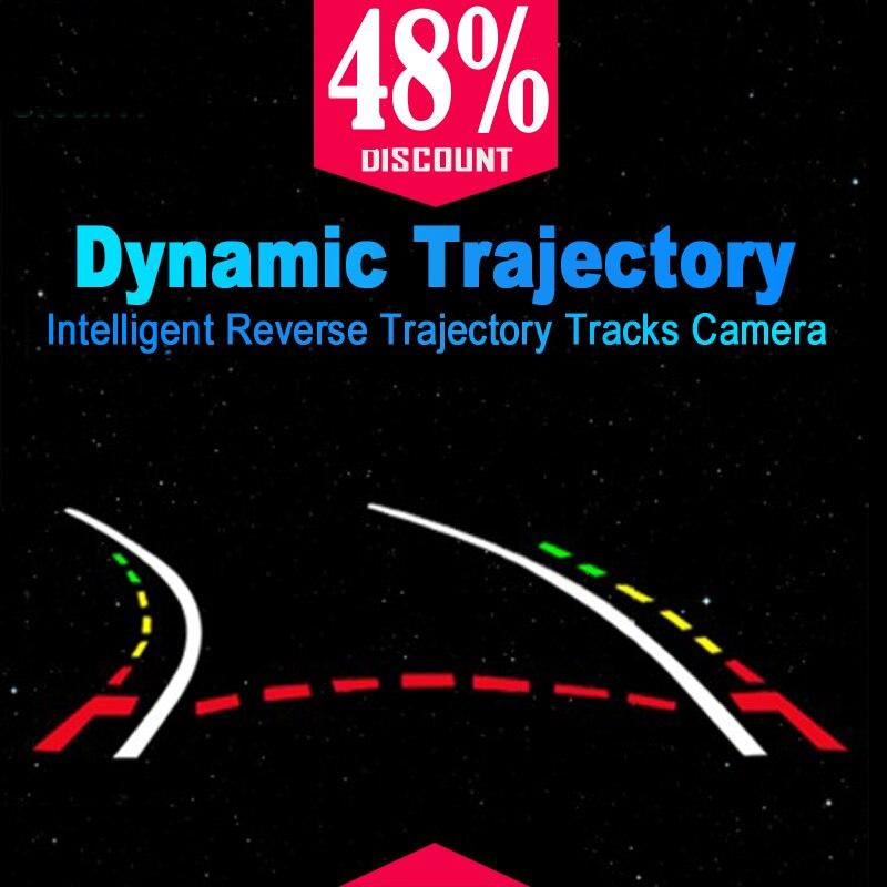 Boqueron Dynamique Intelligent Trajectoire Pistes Arrière Vue Caméra HD CCD Caméra De Recul De Sauvegarde Automatique de Recul Aide Au Stationnement