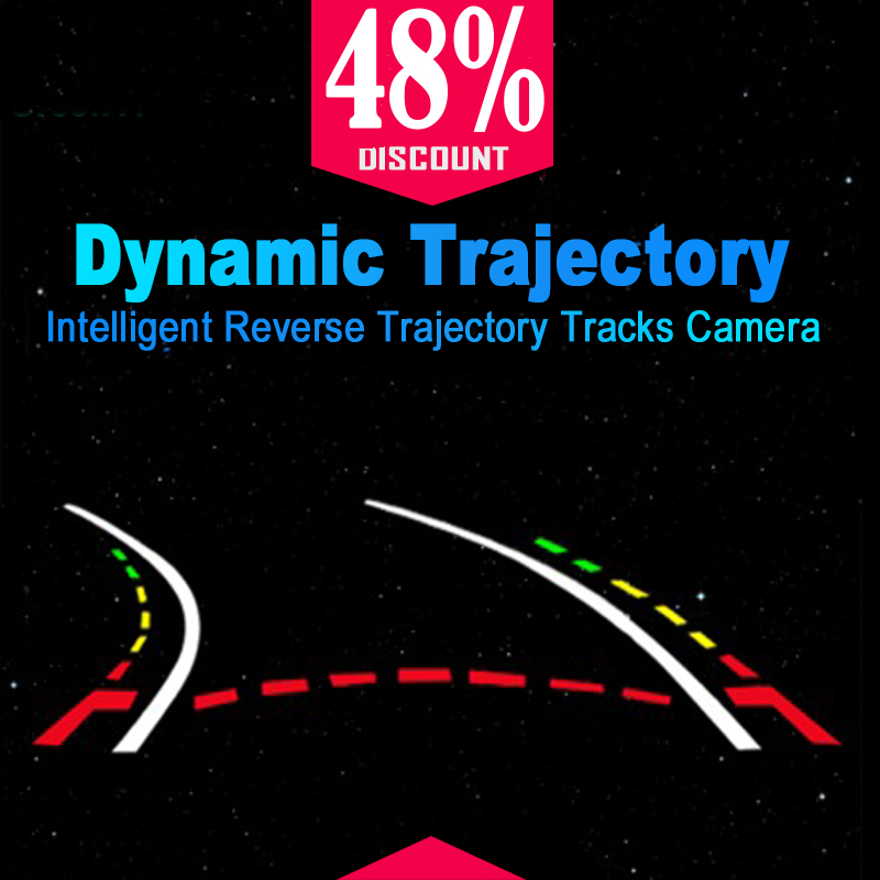 Boqueron Intelligent Dynamic Trajectory Tracks Rear View Camera HD CCD Reverse Backup Camera Auto Reversing Parking Assistance
