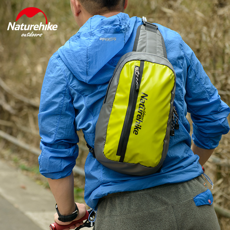 NatureHike Running Bag Multifuction Cycling Cell Phone Waterproof Zipper Men Bag Bag Women Bike Bags Cross Pack Travel 8L universal nylon cell phone holster blue black size l