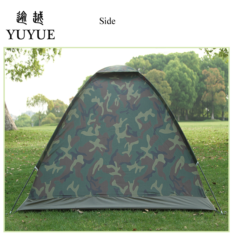 Cheap price double resident tent for outdoor mountain camouflage tent no-see-um mesh for hiking hunting camping car tent 2