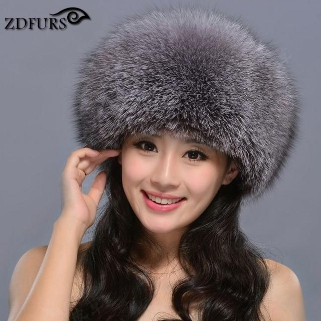 Zdfurs * venda quente russa chapéu de pele de raposa princesa real fox Chapéu de pele Das Mulheres Inverno Quente Couro Cap Cocar cap Mongolia ZDH-161010