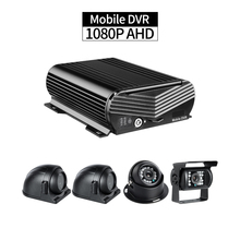 Bus Mobile DVR Recorder,4ch 1080P HDD MDVR with 1PCS Indoor/Outdoor Camera,2pcs Side Cameras for Lorry Truck Vehicle Security