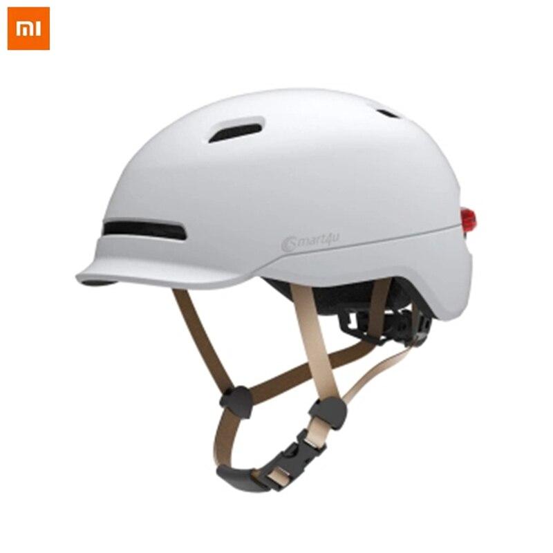 Cascos de Flash mate largo uso casco luz trasera montaña camino Scooter para Hombres Mujeres Nuevo Xiaomi Smart4u impermeable bicicleta inteligente