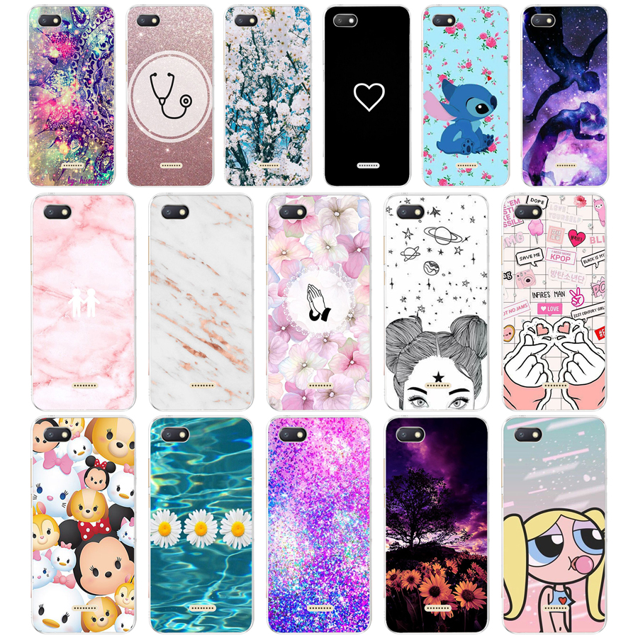 3 Xiaomi Redmi 6A case silicone cover 5 45 quot TPU Cartoon case on for Xiaomi redmi 6a redmi6a coque fundas phone bumper housing in Fitted Cases from Cellphones amp Telecommunications