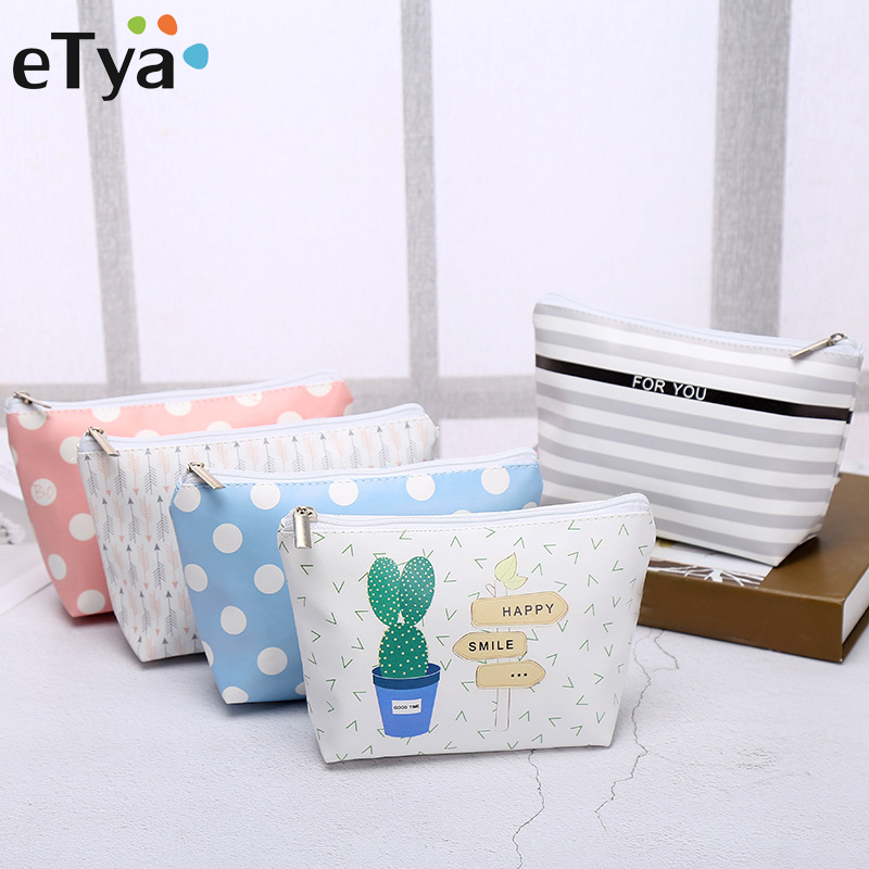 eTya New Fashion Cosmetic Bag Travel Women Makeup bag Make up Case Female Beauty Toiletry bags Wash Organizer Storage pouch etya makeup bags canvas women cosmetic bag organizer pouch bag for travel necessary beauty case fashion portable document bags