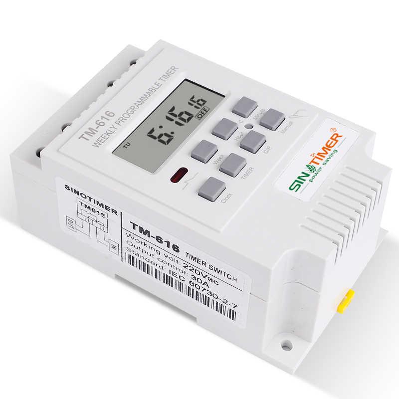 Paperllong/® SINOTIMER 5V Semanal 7 d/ías Interruptor de tiempo programable digital Rel/é Control de temporizador Control de cuenta regresiva Cancelar para electrodom/ésticos