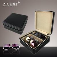 Sunglasses Display Box Stand Travel Take Glasses Organizer Display Storage Box Glass Lid Decent Organization