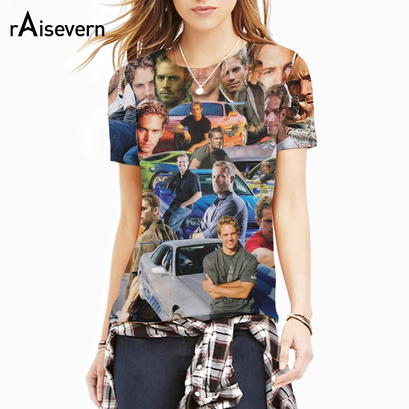 New Men Women Fashion 3D T Shirt Paul Walker Paparazzi T-Shirt The Fast And Furious Wonderful Paul Tee Awesome Tops Dropship ...