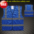 High visibility safety  reflective clothing safety vest reflective blue vest green vest hi vis vest