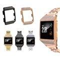 Для Fitbit ionic Crystal Diamond Корпус из нержавеющей стали металлический ремешок для часов сменный ремешок для часов с корпусом для Fitbit ionic
