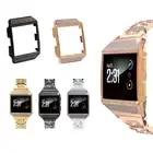 Для Fitbit ionic crystal diamond чехол из нержавеющей стали металлический ремешок для часов сменный ремешок для часов с оболочкой для Fitbit ionic