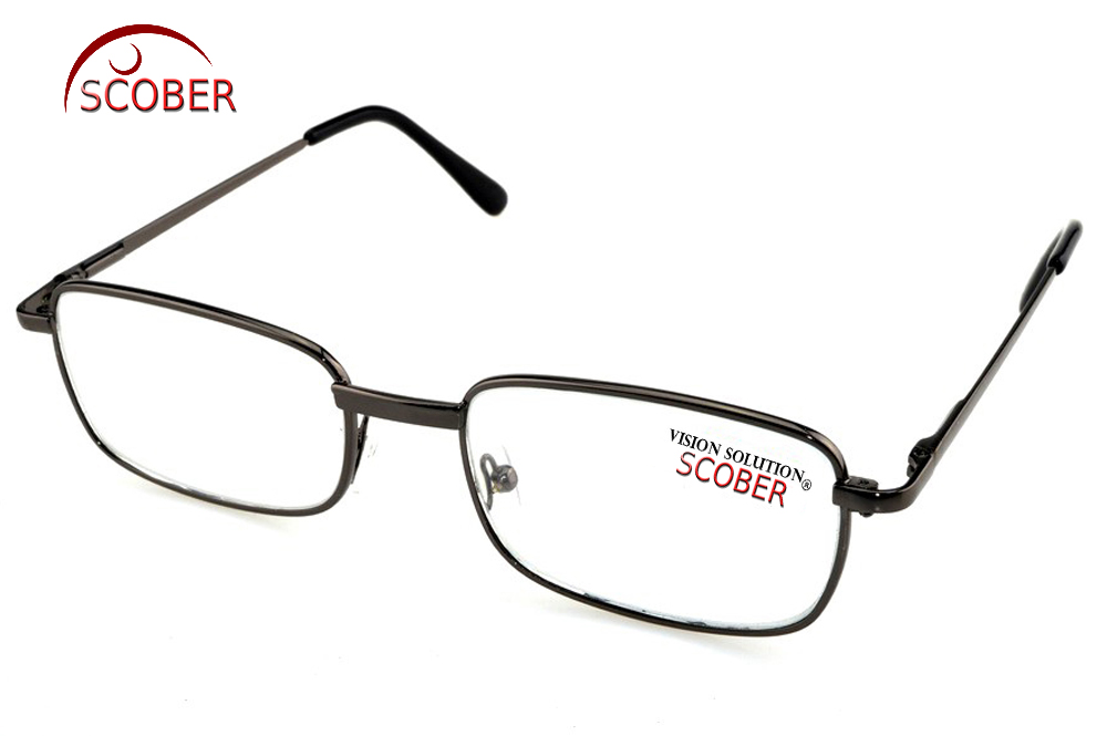 2019 = Scober Natural Crystal Reading Glasses !two Pairs! Full-rim High-quality Alloy Frame Men Women Spectacles +1 +1.5 To +4