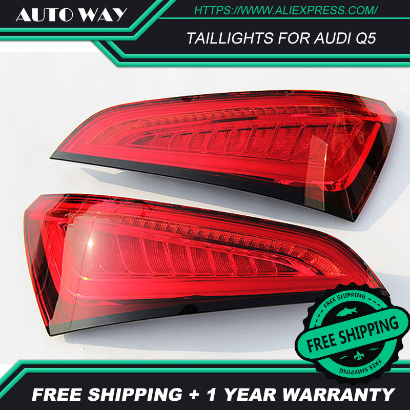 Image 2 - Car Styling taillight tail lights for Audi Q5 2009 2015 LED Tail Lamp rear trunk lamp cover drl+signal+brake+reverse taillights-in Car Light Assembly from Automobiles & Motorcycles