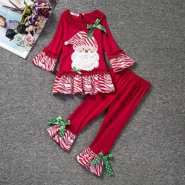 Fashion kids red pants and shirts boutique christmas pajama set long sleeve christmas  outfits girls for - Fashion Kids Red Pants And Shirts Boutique Christmas Pajama Set Long