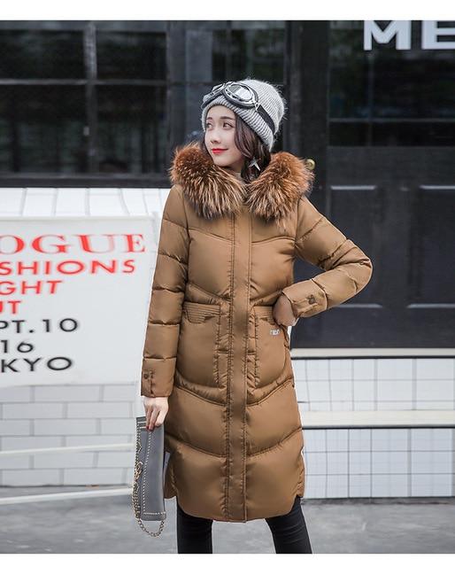 92cfcf47a03 New brand women cotton down jacket women's winter coats black blue brown  cotton-down super