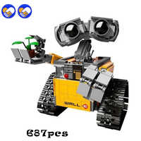Compatível legoinglys cidade criador idéia robô parede e figuras de ação bloco construção 687 pc brinquedos para crianças criadores