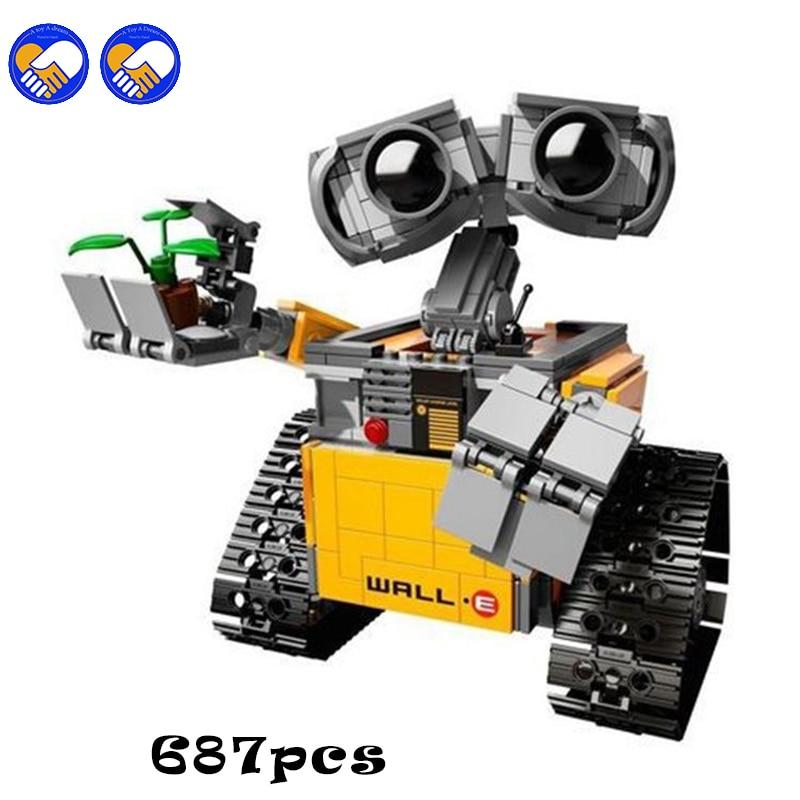 Compatible Lepining City Creator Idea Robot WALL E Action Figures Building Block 687Pc Toys For Children Creators