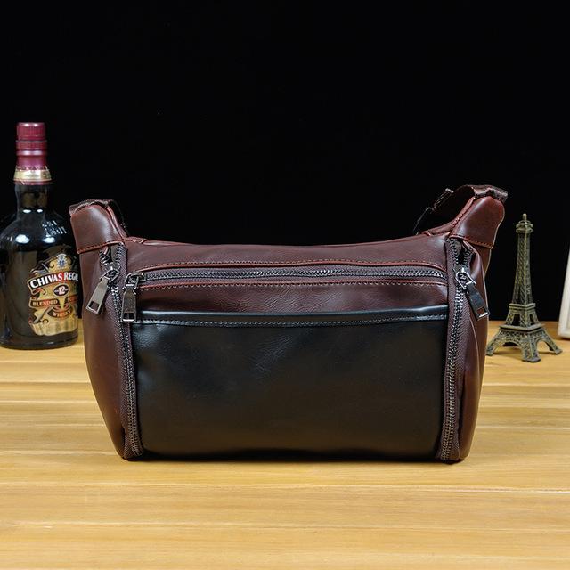 Bolsos de La Cintura de LA PU de Cuero marrón Hombres Paquete de La Cintura del Paquete de Fanny bolso del Paquete de Fanny de la Cintura Del Mens Hombres Muslo de Alta calidad